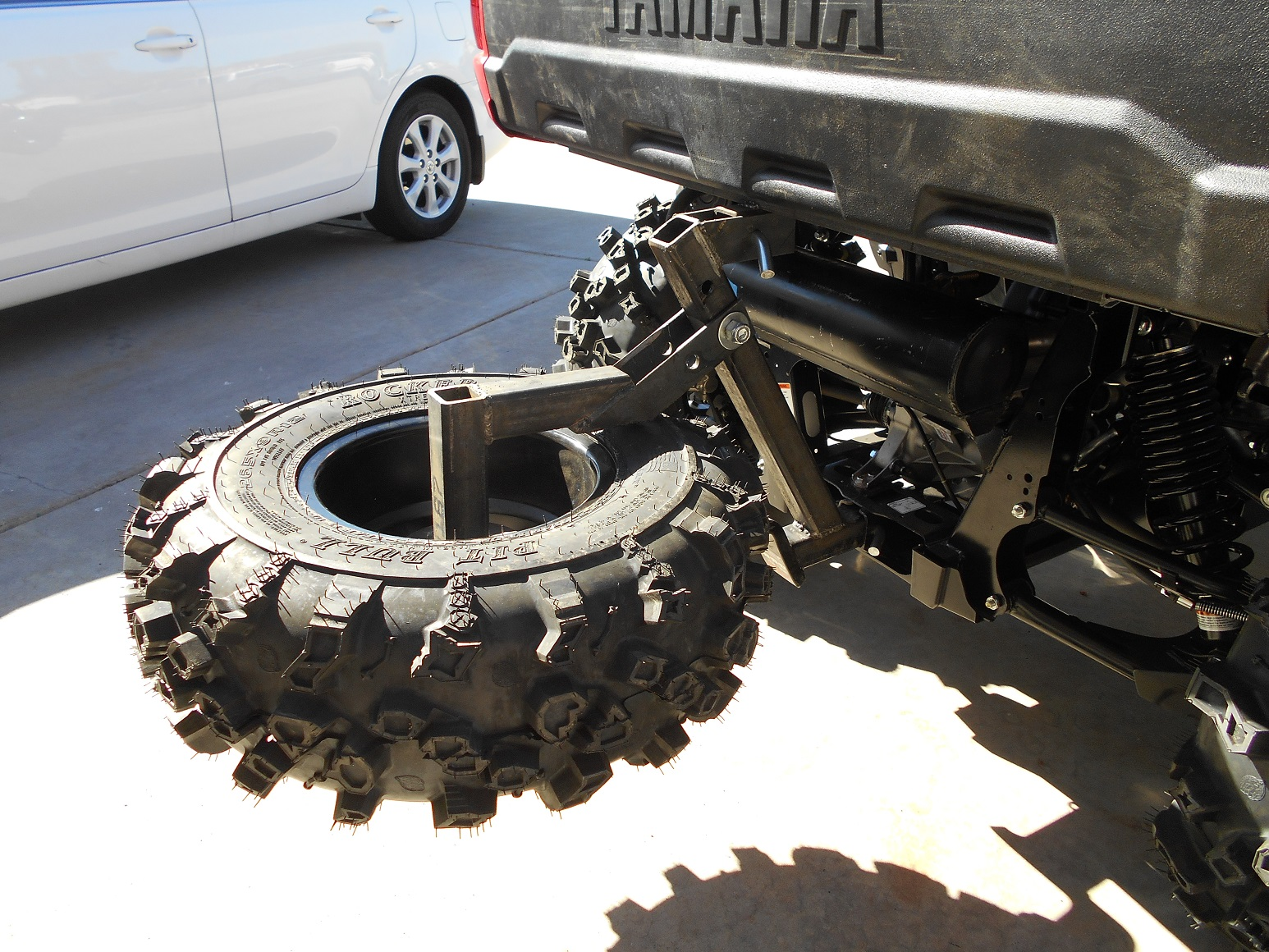 Diy Viking Spare Tire Carrier Pull 1 Pin To Tilt Down 2