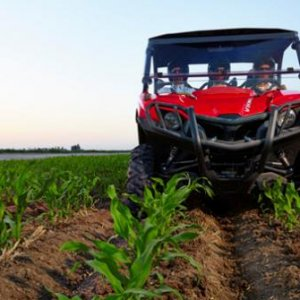 The Viking width is designed to minimize row crop damage.